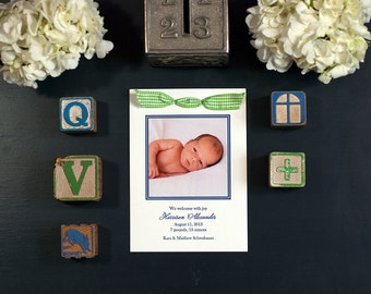 Letterpress Photo Birth Announcement | Letterpress Photo Adoption Announcement | Custom Birth Announcement | MEDIUM Announcement
