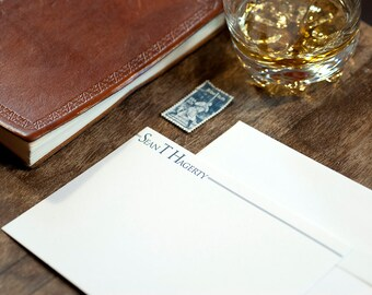 Personalized Digitally Printed Stationery   Custom Stationery   Personalized Correspondence Card   Personalized Flat Card