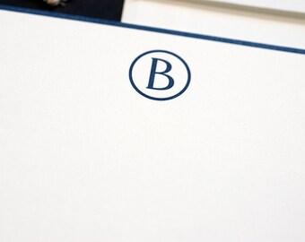 Personalized Digitally Printed Stationery   Monogram Stationery   Modern Monogram Wedding Stationery   Digital Printed Correspondence Card