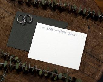 Mr & Mrs Personalized Digitally Printed Stationery   Wedding Stationery   Digitally Printed Correspondence Card   Custom Stationery