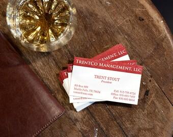 Letterpress Business Cards   Custom Business Cards   Logo Business Card