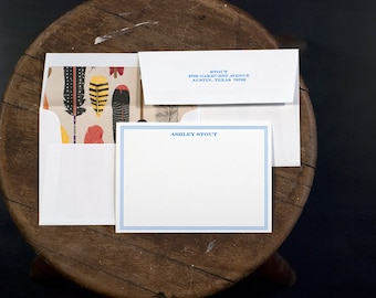 Personalized Digitally Printed Stationery   Custom Personal Stationery   Digitally Printed Correspondence Card   Personalized Card