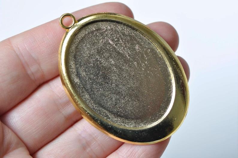 Antique BronzeAntique SilverGoldSilverBlack Pendant Tray Base Settings Match 30x40mm Cabochon Set of 6
