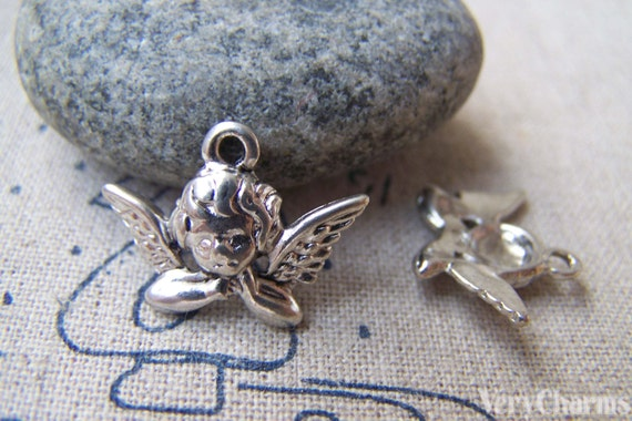 20 pcs de ces breloques ange cupidon 15x20mm a1533 etsy - Image de cupidon gratuite ...