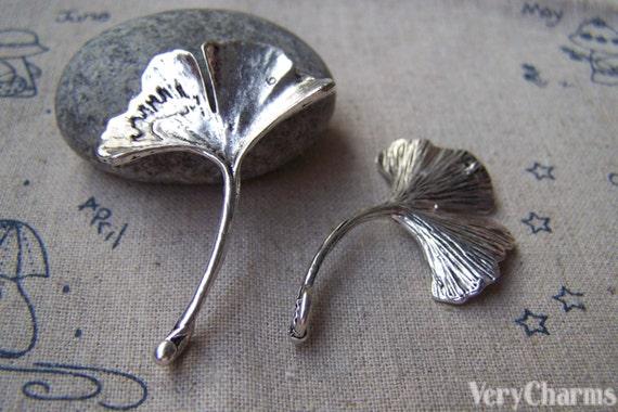 Blätter Blatt 13 x 13 mm kupfer antik Anhänger Metall Ginko 15 20 Stk Neu