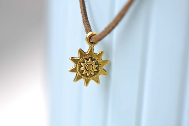 Antique Gold Sun Charms 12x17mm Double Sided Set of 30 A8239