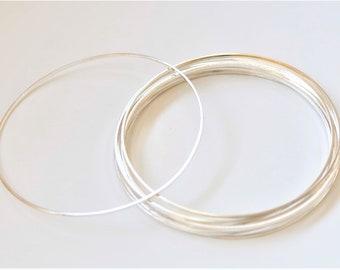 10 pcs Shiny Silver Tone Brass Seamless Rings Circle 80mm 17gauge A5296