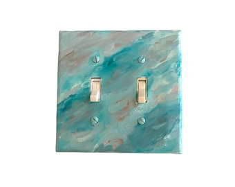 Double Light Switch Plate, Ocean Themed Decor, Switch Plate, New Home Gift, Apartment Decor, Unique Light Switch Cover
