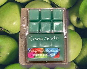 Clam Shell Wax Melts, Granny Smith Scent, Fall Scent, Candle Melts, Home Fragrance, Fruit Scented Melts, Strong Scent Melts