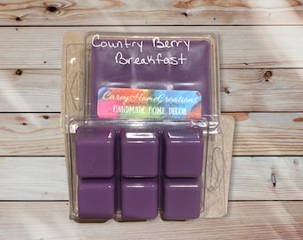 Clam Shell Wax Melts, Berry Scented Melts, Handmade Wax Cubes, Strong Scented Melts, Wickless Candles