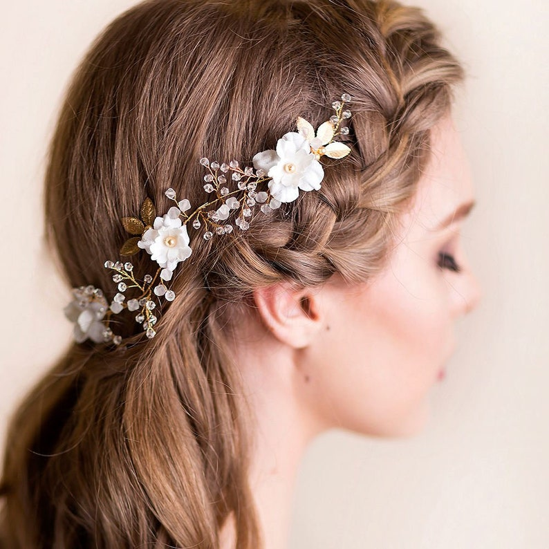 Tools & Accessories Hot Girls Flower Side Clip Wedding Bride Headwear Hairpin Sufficient Supply Hair Extensions & Wigs