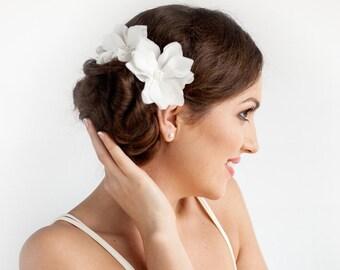 Magnolia Hair Flowers Bridal - Bridal Hair Piece - Magnolia Hair Flower Clip Set of 2 - Bridal Hair Accessories - Wedding Hair Accessories