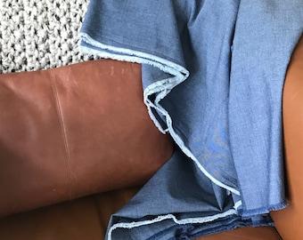 The Dock  ||  Chambray Cotton Throw Blanket  ||  Dark Wash
