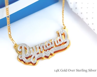 121a6709a Double Name Plate | Name Plate | My Name Necklace | Your Name Necklace | Custom  Nameplate | Free Shipping