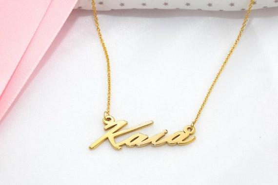 Chloe Necklace Script Name Necklace Script Necklace Name Etsy