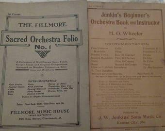 Antique Coronet sheet music books. Band 1930s