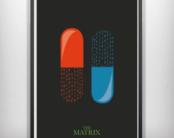 The Matrix minimalist movie poster
