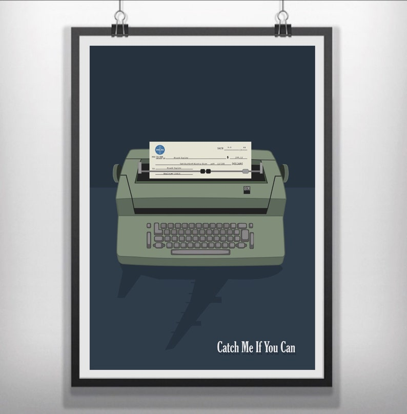 Catch Me If You Can Minimalist Movie Poster Etsy