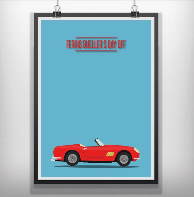 FERRIS BUELLER/'S DAY OFF VINTAGE MOVIE POSTER  FILM A4 A3 ART PRINT CINEMA