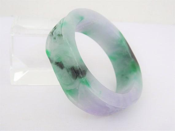 Translucent Jadeite Green Bangle for ladies