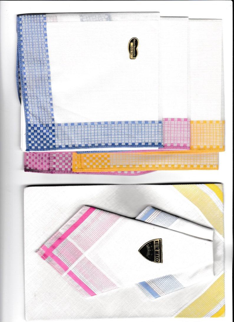 handkerchief ca 27 cm worde in 2 lines colourd