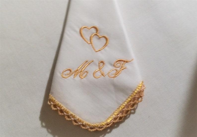 1 handkerchief Batist fine 100/% cotton Flowers embroidered by hand