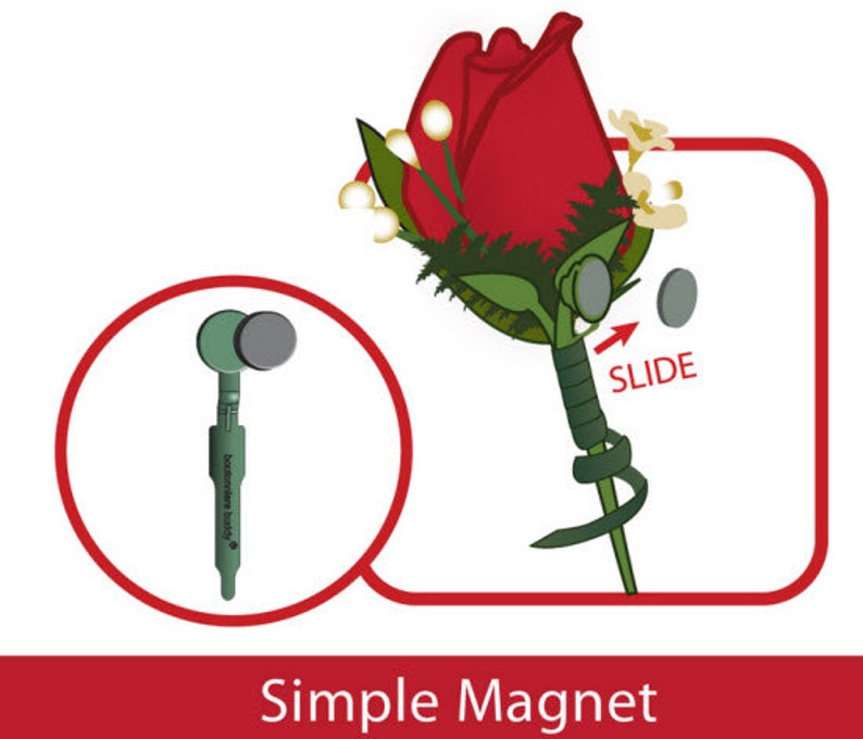 12 Boutonniere Magnets