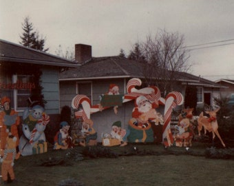 vintage outdoor christmas decorations etsy