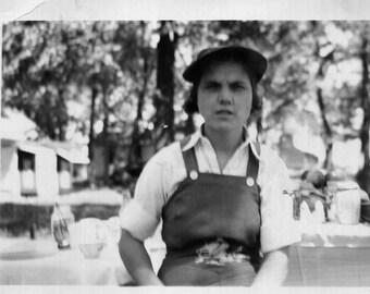 Vintage Photo..Grumpy Gloria 1930's, Original Found Photo, Vernacular Photography, Old Photo Snapshot, American Social History Photo