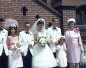 Grumpy Bride...35mm Agfachrome Color Photo Slide..1960's..Vintage Wedding Photo Download..Vintage Kodachrome Color Photo Slide Download