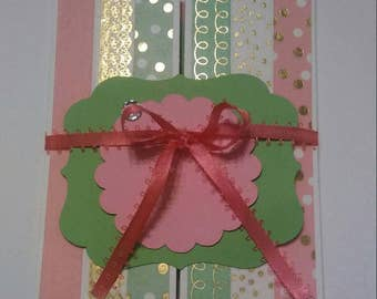 Just Because Card...Paper, Handmade Cards, Hostess Gift, Note Cards