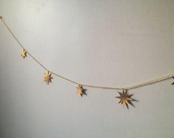 Brass Star Wall Hanging / Garland