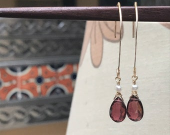 Pink Tourmaline, Pink Tourmaline Earrings, Pink Tourmaline, Marquise Earrings, Tourmaline Earrings, Gold Earrings, Dressy Earrings, Teardrop