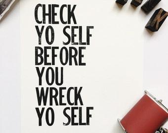 check yo self etsy