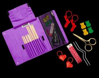 addiClick WOOLLY HUGS Needle set Knitting Crochet hook Case 680-2 NEW addi click