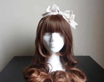 Classic Pearl Drop Ribbon Bow Headband