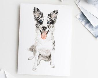 Pet Portrait, Original Custom Watercolor Artwork of a Beloved Dog, Cat, Fish, Rabbit, or Other Pet