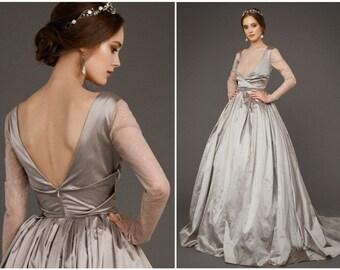 Silver wedding dress | Etsy