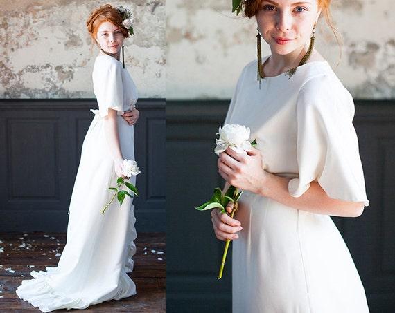 Plus size wedding dress, Romantic bridal gown, Winter wedding dress,  Alternative wedding dress, Boho wedding dress