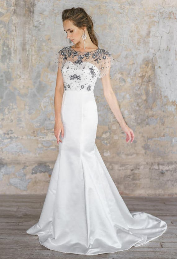 Flaviasilhouette Wedding Dress Lace Up Graceful Exquisite Etsy