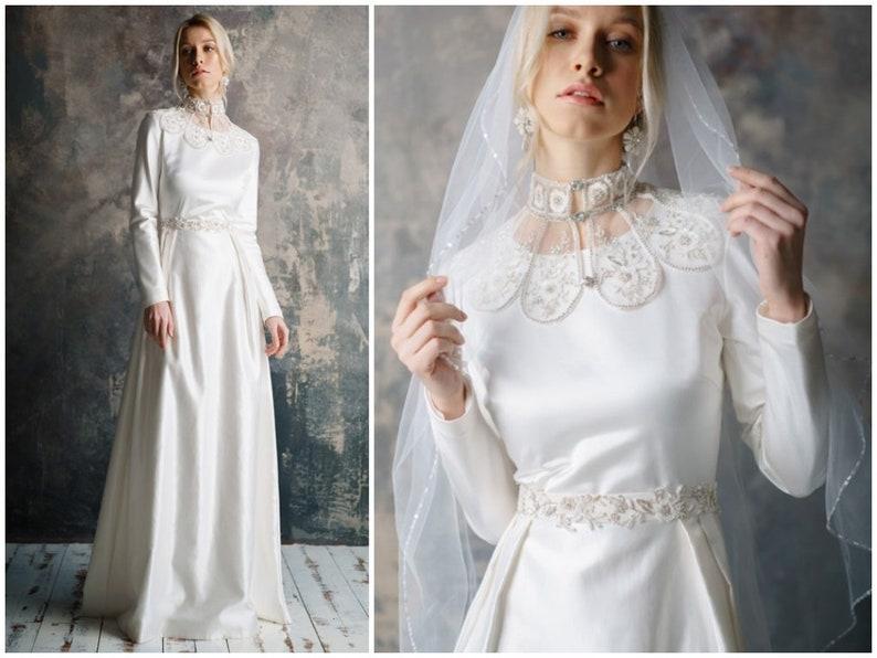 Alba Bohemian Wedding Dress With Sleeves Winter Wedding Dresses Bridal Gowns Alternative Wedding Dress Romantic Long Sleeve Wedding Dress