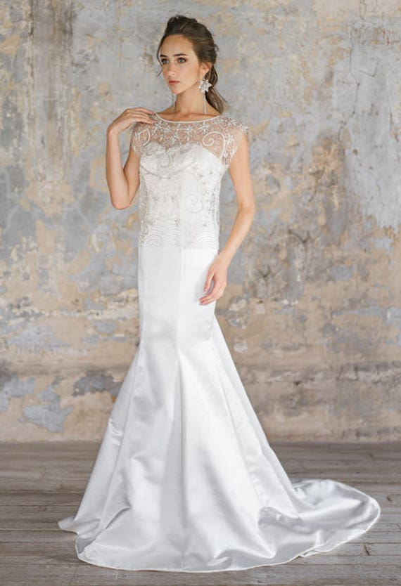 Flavasilhouette Wedding Dress Lace Up Graceful Exquisite Etsy