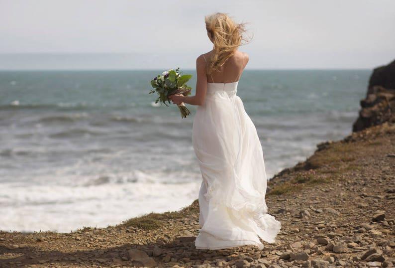 Romantic Bohemian Wedding Dresses.Ligeia Romantic Wedding Dress Bohemian Wedding Dress Boho Beach Wedding Dress For A Pregnant Bride Pregnant Bride Dress Maternity Dress