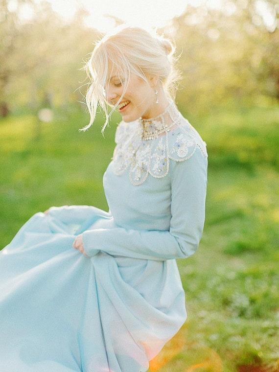 Lorem / Brautkleid mit Ärmeln die Hochzeit Kleid Langarm | Etsy