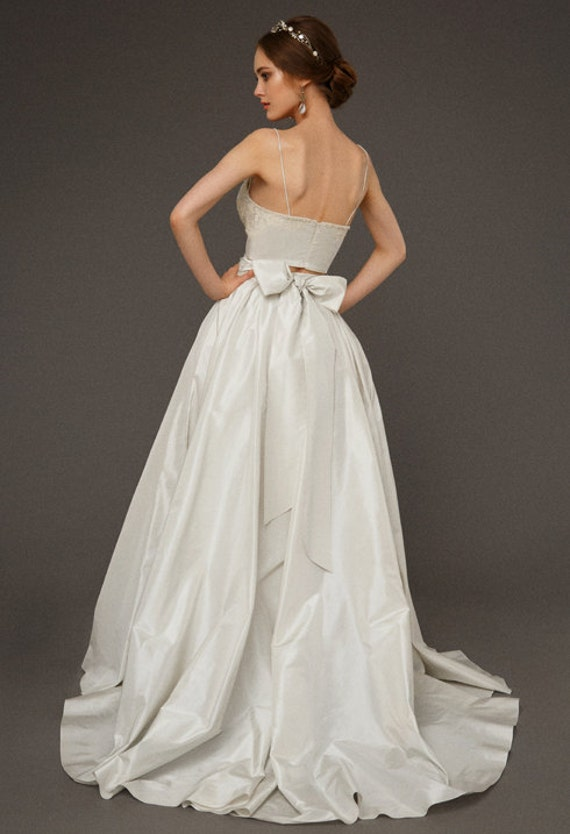 62775eb022 DELPHINIA   Two piece wedding dress Wedding dress Separates