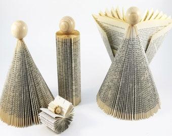 Modern Nativity Set – Christmas Creche - Folded Book Art Sculpture Set