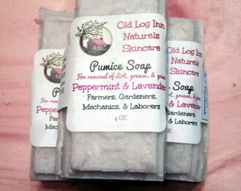 Lot of 3- 4+oz. Pumice Soap Bars/Skin Polisher for Hands, Feet, & Body Exfoliation