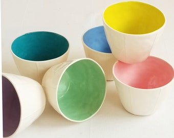 Ceramic tumblers. Coffee, dessert, soup or fruit cups