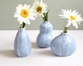 Bud vase set of 3. Minimalist home. Summer gift