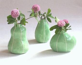 Bud vase set of 3. Minimalist home. Housewarming gift